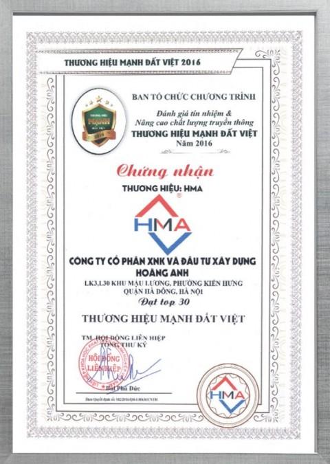 chung nhan chat luong hma3